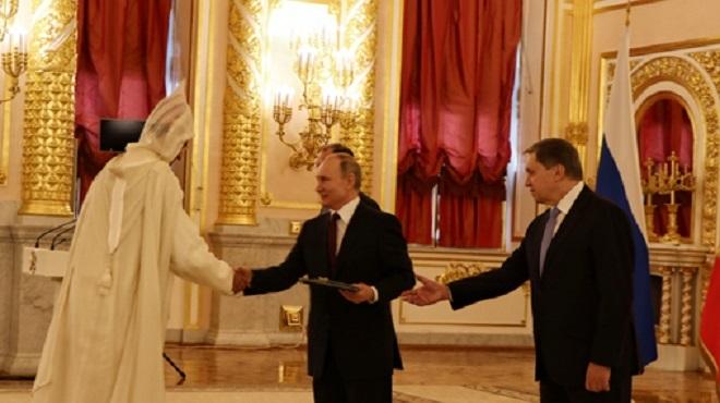 Le président Poutine salue le ''développement continu'' des relations maroco-russes
