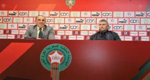 Présentation à Rabat des entraîneurs engagés pour prendre les commandes des différentes équipes nationales de football
