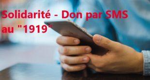 """COVID-19/ Fonds spécial : Le """"1919"""", un numéro pour les dons par SMS"""