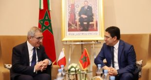 Bourita s'entretient à Marrakech avec son homologue Maltais Evarist Bartolo