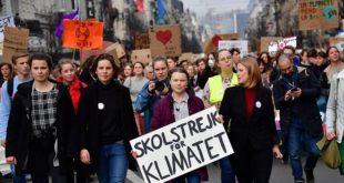 Bruxelles : 3400 personnes ont manifesté aux côtés de Greta Thunberg