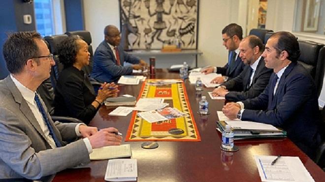 M. Jazouli tient à Washington une série de réunions avec de hauts responsables américains