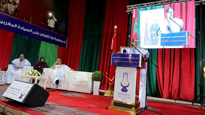 """Laâyoune : Le SG du PJD se réjouit des développements """"positifs"""" du dossier du Sahara marocain"""
