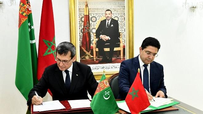 Maroc/ Turkménistan : Signature de trois accords de coopération
