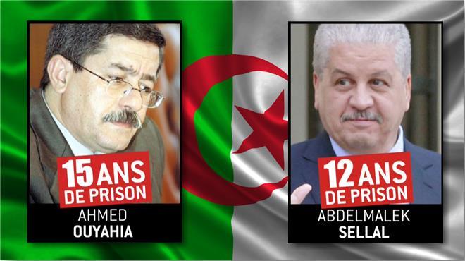 Algérie : 15 ans de prison ferme pour Ouyahia et 12 ans pour Sellal