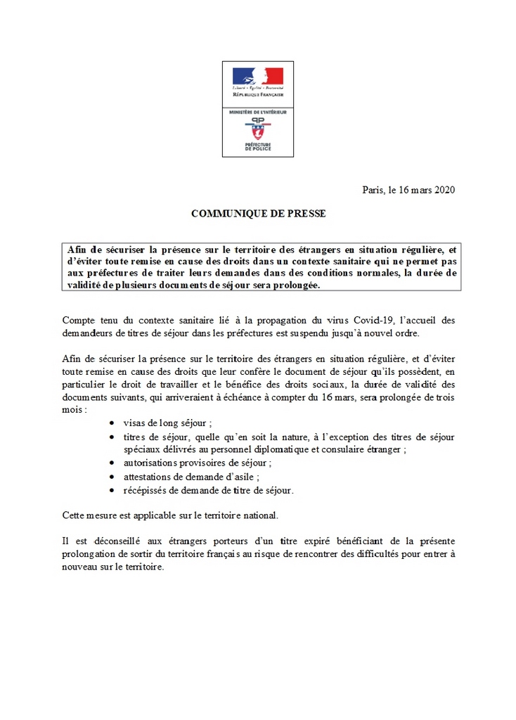 Marocains établis en France : Les titres de séjour seront prolongés