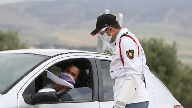Bouznika   La Gendarmerie Royale à pied d'œuvre pour faire respecter l'état d'urgence sanitaire