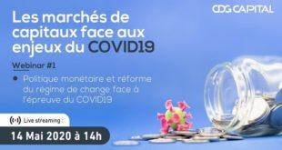 CDG | Lancement d'un cycle de webinars