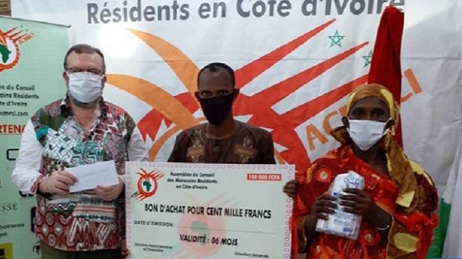 COVID-19 | Plus de 100 familles marocaines et ivoiriennes profitent d'une opération de solidarité