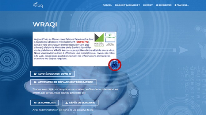 Wraqi | Une plateforme pour suivre l'évolution de la pandémie au Maroc