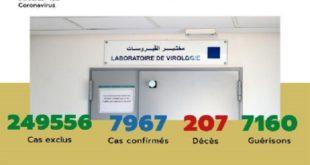 Maroc/ COVID-19 | 45 nouveaux cas confirmés, 7.967 au total