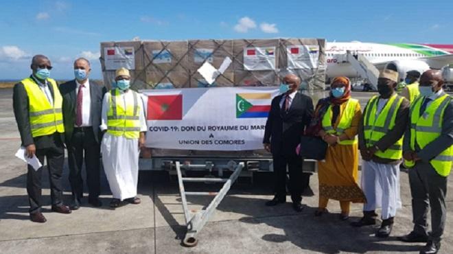 Arrivée à Moroni de l'aide médicale marocaine destinée aux Comores