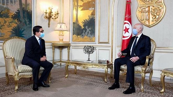 Diplomatie | Bourita porteur d'un message de SM le Roi au président Kaïs Saïed