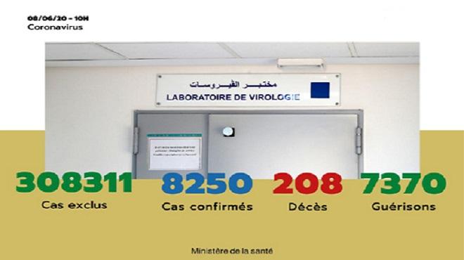 Maroc/ COVID-19   Vingt-six (26) nouveaux cas confirmés, 8.250 au total
