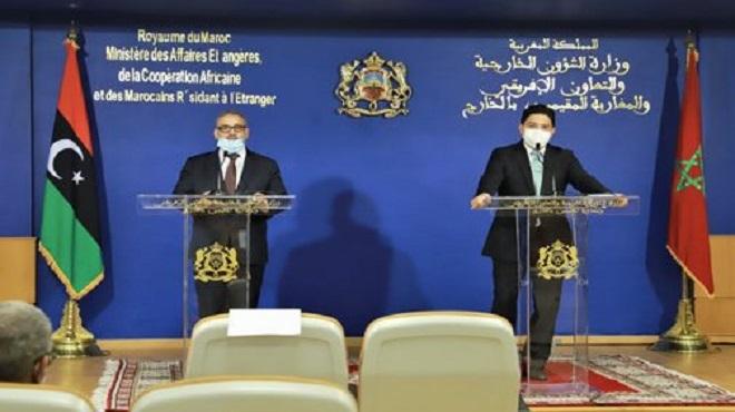 """Bourita réaffirme la conviction du Maroc que """"la solution de la crise en Libye ne peut être que libyenne et pour les libyens"""""""