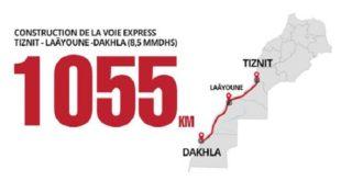 Le Maroc érige une voie express de plus de 1000 km en plein désert