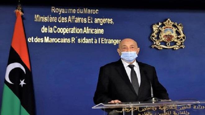 """Le président de la Chambre des représentants libyenne apprécie """"fortement"""" le rôle du Royaume dans le soutien de son pays pour sortir de sa crise"""