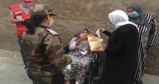Campagne de distribution des masques de protection à Benguérir