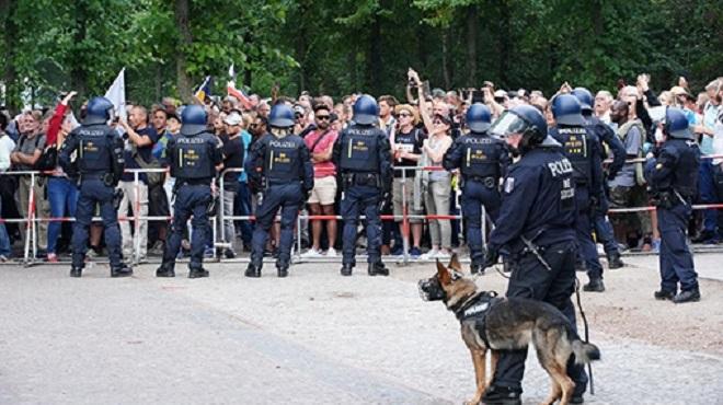 Manifestation Anti Restrictions à Berlin