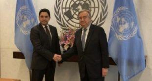 Bourita s'entretient par vidéoconférence avec le Secrétaire Général de l'ONU