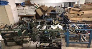 Démantèlement d'une usine clandestine de fabrication de sacs en plastique à Tanger