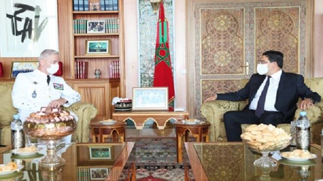 Nasser Bourita reçoit à Rabat le Chef d'État-Major des Armées françaises