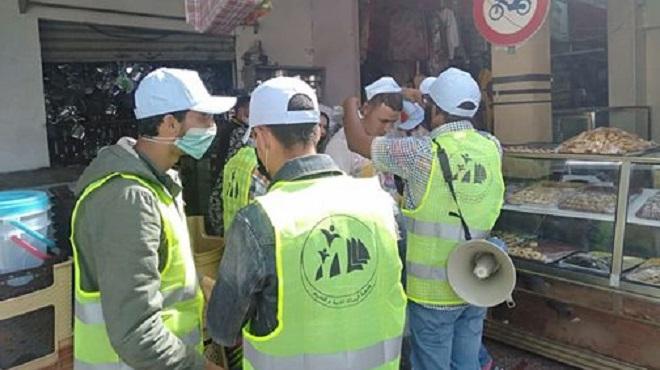 Campagne De Sensibilisation Au Danger Du Covid 19 à Sidi Moumen