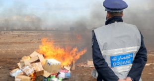 Destruction à Casablanca d'une quantité de drogue