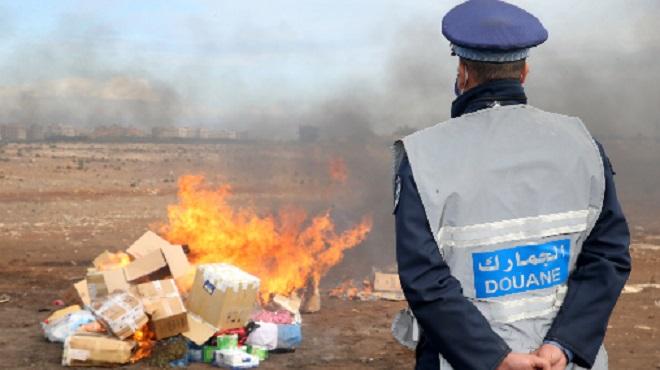 Destruction à Casablanca d'une quantité de drogue