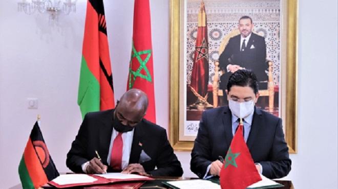 Maroc Malawi Signature de quatre accords de coopération couvrant divers domaines