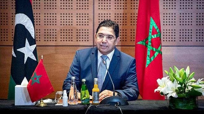 Nasser Bourita Sm Le Roi Veille à Soutenir Le Dialogue Inter Libyen Sans Imposer De Solutions
