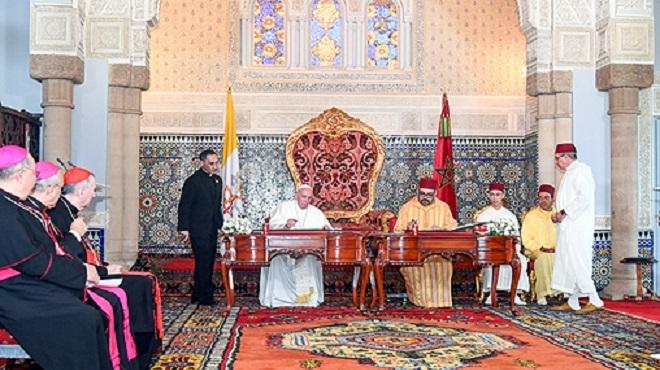 l'Irak salue l'appel d'Al-Qods lancé par SM le Roi et le Pape François