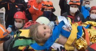turquie:-une-fillette-de-trois-ans-sauvee-des-decombres-91-heures-apres-le-seisme