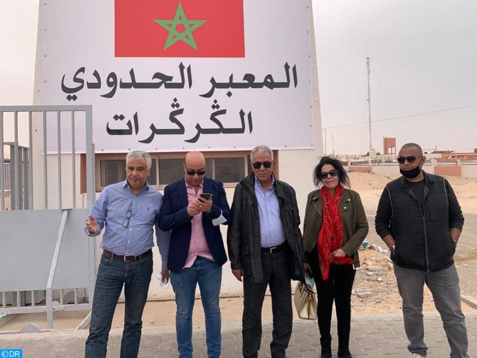 Arrivée de la délégation de l'ANME au point de passage de Guergarate