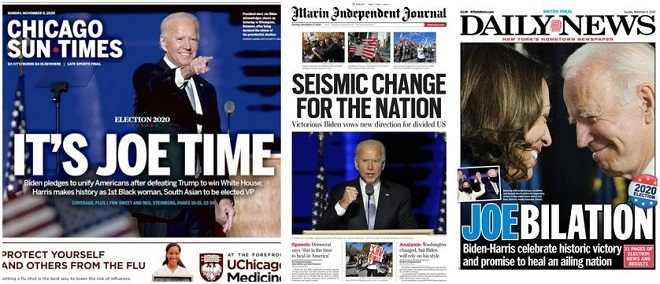 Biden le soulagement de la presse américaine et internationale