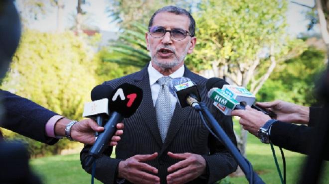 El Otmani Le communiqué prétendant la tenue d'un Conseil du gouvernement pour l'adoption d'un reconfinement national est faux