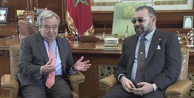 Guergarate SM le Roi Mohammed VI s'entretient avec le Secrétaire Général de l'ONU