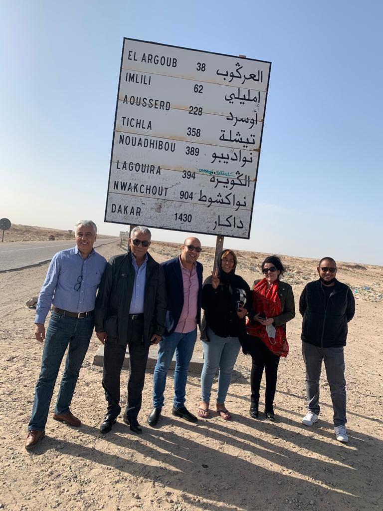 La délégation de l'ANME sur la route de Guergarate