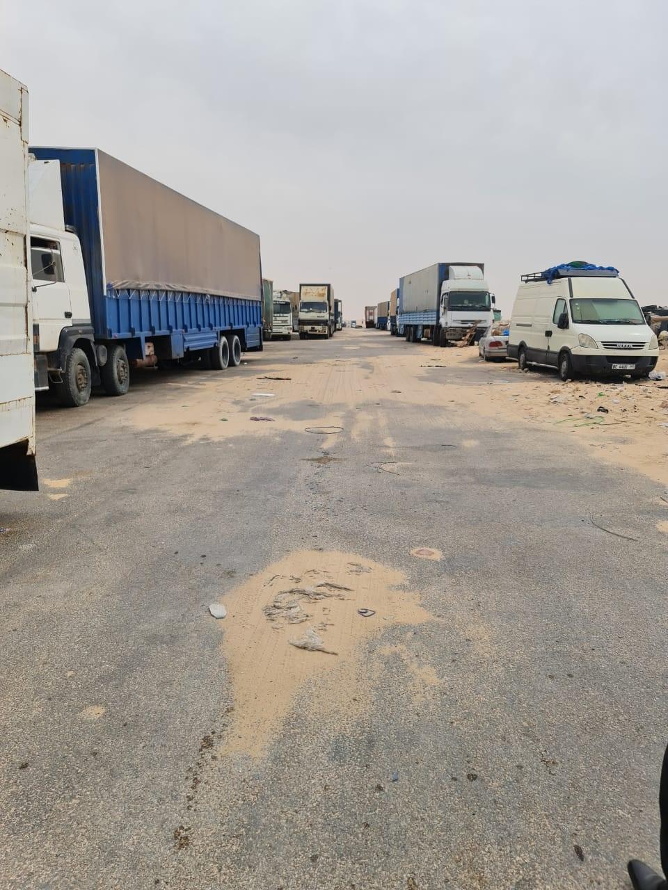 Le corridor séparant le Maroc de la Mauritanie qu'empruntent les transporteurs