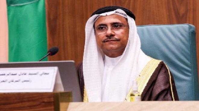 Le président du Parlement arabe exprime sa solidarité et son soutien total au Maroc