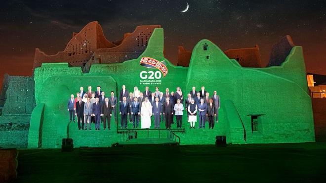Ouverture du sommet virtuel du G20 sous la présidence de l'Arabie Saoudite