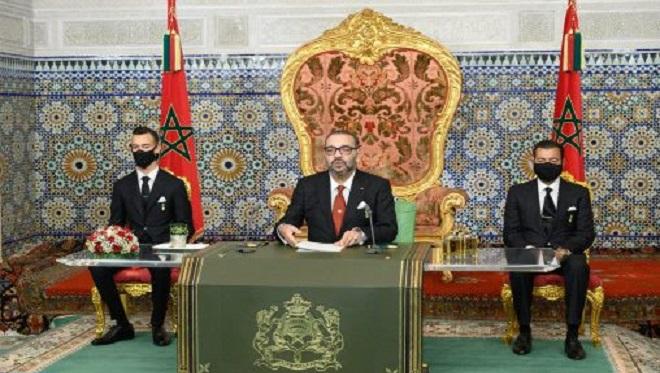 Sm Le Roi Adresse Un Discours à La Nation à L'occasion Du 45 ème Anniversaire De La Marche Verte