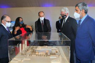 Casablanca Pose de la première pierre du nouveau Consulat général des Etats-Unis