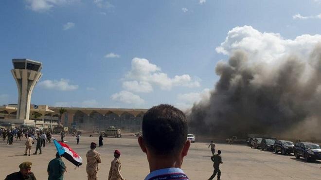 Yémen puissantes explosions aéroport d'Aden