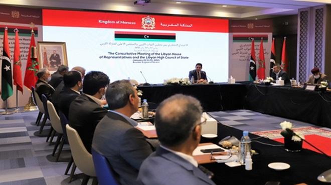 Bouznika Les délégations du Haut Conseil d'Etat et de la Chambre des représentants libyens