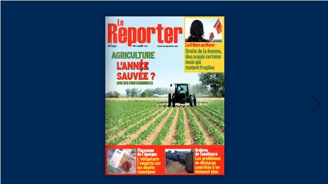 Couverture N° 1030 – 11 Mars 2021 Le Reporter.ma