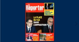 Couverture N° 1031 – 18 Mars 2021 Le Reporter.ma