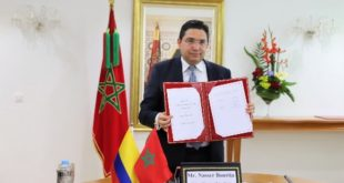 bourita accords maroc colombie