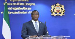Maroc-Sierra Leone,Consulat général à Dakhla,David Francis,Nasser Bourita