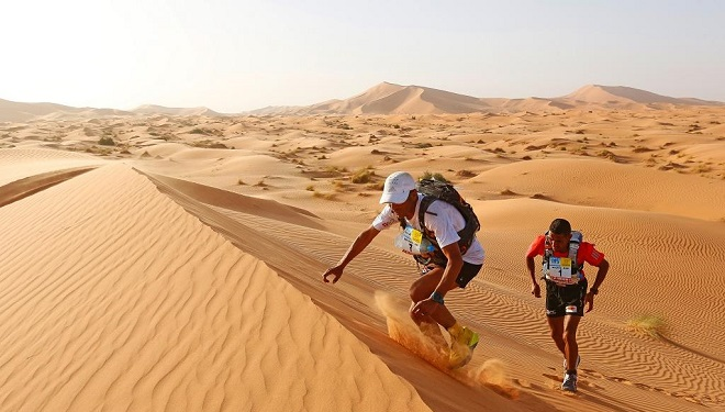 Marathon des Sables,sahara marocain